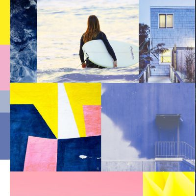INTO THE BLUE Active colour moodboard S/S 2019