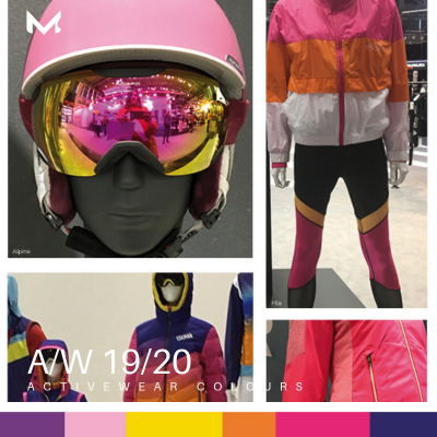 5 ISPO moodboards with colour trends AW 19/20