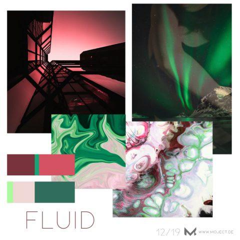 FLUID – colour mood of the month + pantone colours