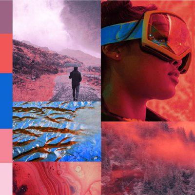 A/W 2019/20 Active colour moodboard MYSTIC EARTH