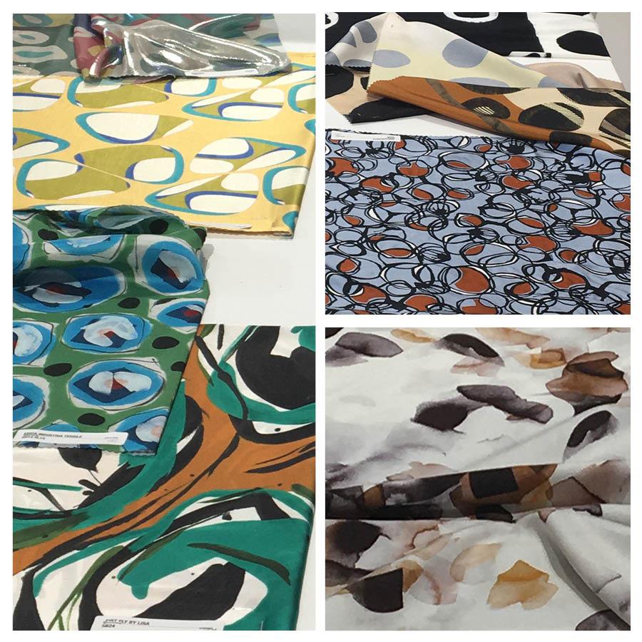Handdrawn flowers & patterns | Metallics & iridescent fabrics