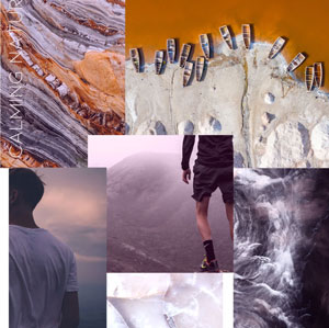 A/W 21/22 Active colour moodboard CALMING NATURE