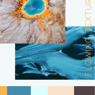 Colour mood FLOWING TEXTURES
