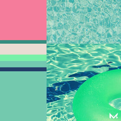 COLOUR NOW: Pool Green & Strawberry Pink